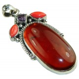 Ashley Sterling Silver Amber  Pendant