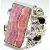 Rhodochrosite Silver Ring