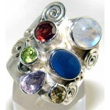 Elsa Sterling Silver Gemstone  Ring