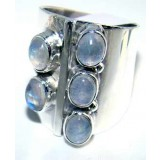 Aleena Sterling Silver Moonstone  Ring