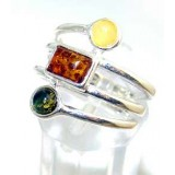 Karla Sterling Silver Amber  Ring