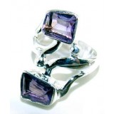 Joselyn Sterling Silver Amethyst  Ring
