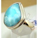 Lainey Sterling Silver Larimar Ring