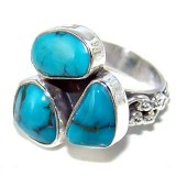 Heidi Sterling Silver Turquoise  Ring