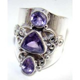 Journey Sterling Silver Amethyst  Ring
