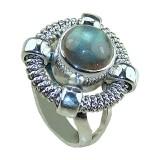 Annalise Sterling Silver Labradorite  Ring