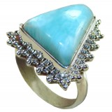 Dahlia Sterling Silver Larimar Ring