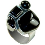 Arely Sterling Silver Onyx  Ring