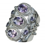 Angelica Sterling Silver Amethyst  Ring