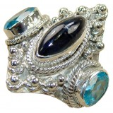 Ruth Sterling Silver Topaz  Ring