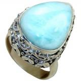Janiya Sterling Silver Larimar Ring