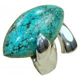 Esmeralda Sterling Silver Turquoise  Ring