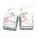 Rhodochrosite Silver Earrings