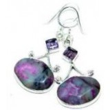 Gemstone Silver Earrings