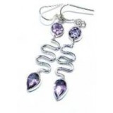 Amethyst Silver Earrings