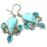 Cara Sterling Silver Topaz  Earrings