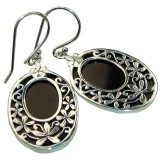 Onyx Silver Earrings