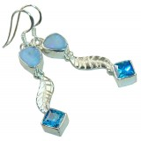 Marie Sterling Silver Opal  Earrings