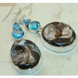 Topaz Silver Earrings