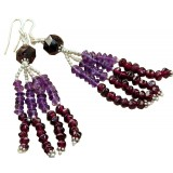 Salma Sterling Silver Gemstone  Earrings