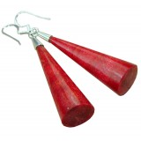 Katherine Sterling Silver Coral  Earrings