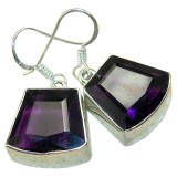 Shiloh Sterling Silver Amethyst  Earrings