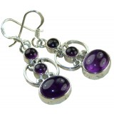 Ariella Sterling Silver Amethyst  Earrings